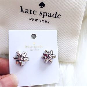 ♠️ Kate Spade Silver Bourgeois Bow Studs